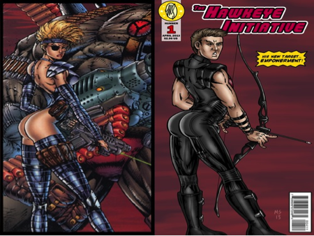 Sexualized comic book characters